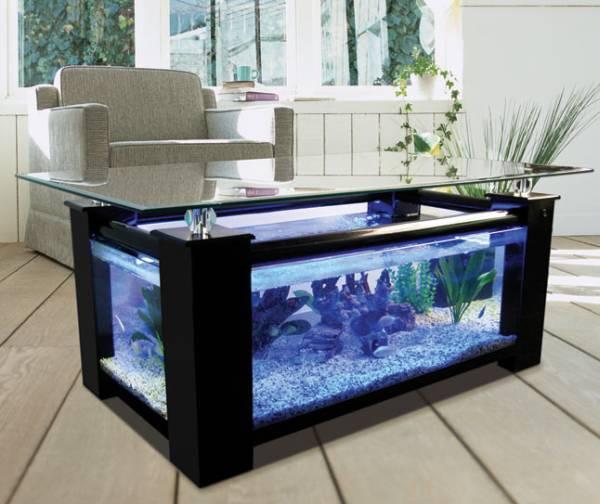 Tavolini da soggiorno: 4 tavolini con acquario