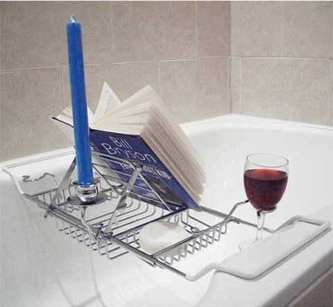 Un organizzer per la vasca da bagno - Candele da bagno ...