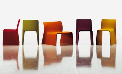 Sedie poltroncine e chaise longue glove for Sedie tessuto design