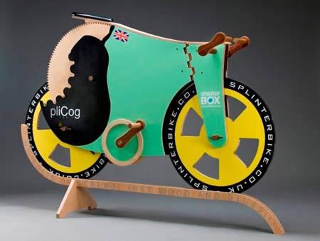 Splinterbike: un bicicletta fatta interamente di legno