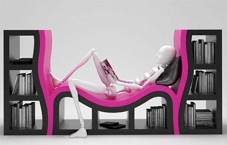 Una Libreria Sdraio Per Lettura In Completo Relax