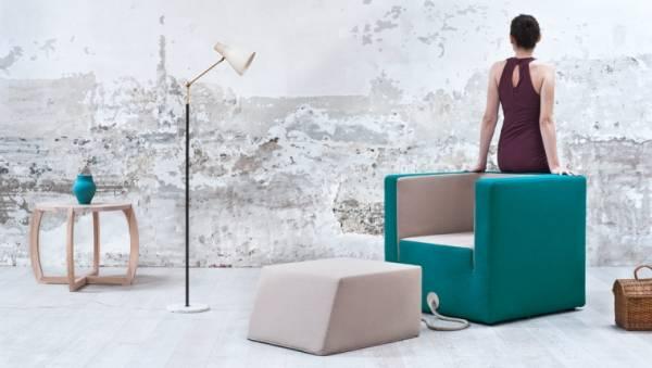 Decube: La poltrona con Pouf incorporato, bella ed elegante