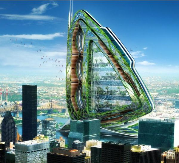 New York La Tower Farm Futurista da 600 metri