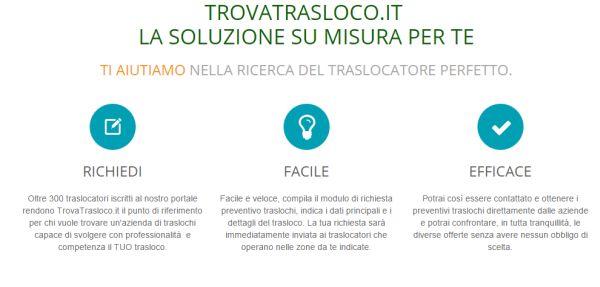 TrovaTrasloco: Un portale dedicato al trasloco