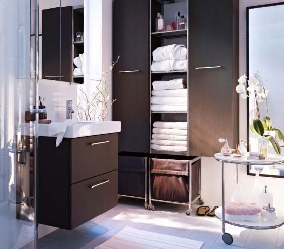 lazienda svedese ha infatti installato un vero e proprio bagno in stile ikea